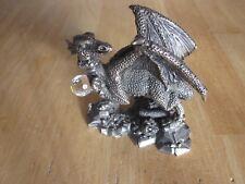 'The Jewelled Dragon' Pewter Figurine by A.G. Shrombe WAPW © U.K.