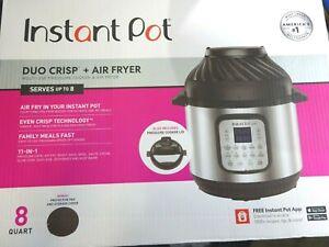 Instant Pot Duo Crisp 11-in-1 + Air Fryer Electric Pressure Cooker 8 Quart