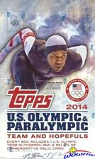 2014 Topps USA Olympics Team HUGE Factory Sealed HOBBY Box-3 AUTO/RELIC-192 Card