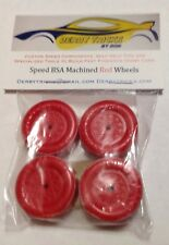 Pinewood Derby Lightly Lathed & polished RED Speed Wheels & axles ALL LEGAL BSA