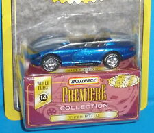 1997 MATCHBOX Premiere Dodge Viper RT/10 Blue Real Riders 1 of 25,000 Ser. 14