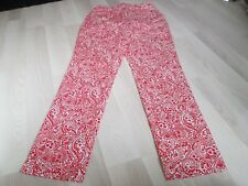 BODEN RED PAISLEY BARNSTAPLE ANKLE SNAPPER TROUSERS 8