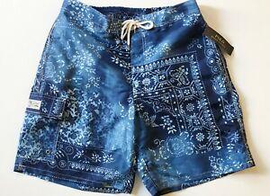 Polo Ralph Lauren Men XL Blue Moroccan Tile Kailua Swim trunks NEW