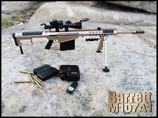 G_8028C M107A1 Figure US Desert Champagne M107-A1 Sniper Rifle Gun Model 1:6
