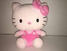 "TY By SANRIO Handmade 9"" Hello Kitty Pink Plush,Polyester Fiber/Plastic Pellets"