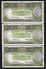 R-34. (1961) 1 Pound.. Coombs/Wilson.. Reserve Bank x 3 Notes. gVF,EF,gEF