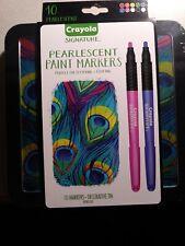 Crayola Signature Pearlescent Paint Markers Decorative Tin 10-pc
