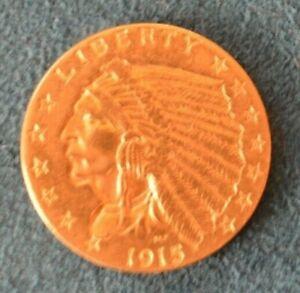 1915 $2.50 Indian Gold Quarter Eagle