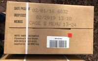 Military MRE US Case B 12 Meal Ready to Eat M.R.E. 2019 Inspection