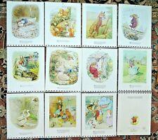 """Vintage BEATRIX POTTER Prints 8""""x10"""",1976 Calendar. 11 prints, Excellent"""