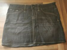 Black wash denim mini skirt, size small