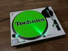 -TURNTABLE TECHNICS SL-1210 MK2 WHITE, Leds GREEN , NEW,  PERFECT 100 %