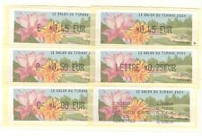 LISA SERIE 5 VALEURS + Reçu LE SALON DU TIMBRE 2004 FLEURS
