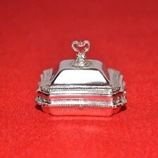 Miniature Sterling Silver Casserole Tureen Dollhouse 1:12 Peter Acquisto