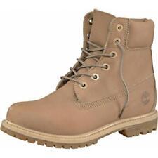 TIMBERLAND Damen Premium 6 ECHT LEDER BOOTS Stiefel Hellbraun Braun Schuhe 37