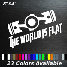 The world is flat decal sticker Toyota Subaru Frs brz wrx sti forester legacy
