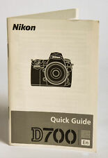 Nikon D700 Digital Slr Camera Body User Quick Guide Manual Instruction Book - Ex