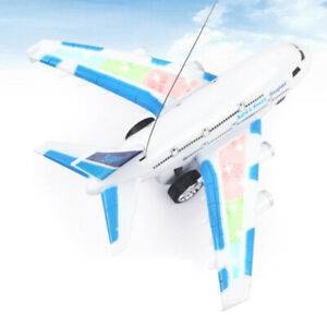 Plastic RC Remote Controlled Aeroplane Vehicles Electric Plane Toy Gift Blue