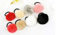 2Pcs Fashion Women Elastic Hairball Hair Band Hair ring Rope Ponytail Scrunchie