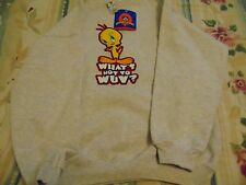 Tweety Bird- Looney Tunes Warner Brothers Studio Kids XL Sweat Shirt  NEW
