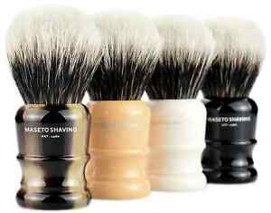 MASETO - Castle 24mm Extra Density 2 Band 100% Finest Badger Shaving Brush