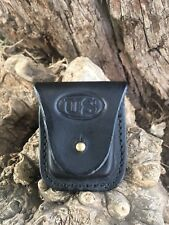 Leather Zippo Lighter Holder/ US Stamp design   Handmade USA!