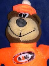 """Vintage 1997 A&W Root Beer ~*~ Beanie / Bean Bag Bear ~*~ EXCELLENT SHAPE 8"""""""