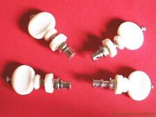 4 WHITE TUNING PEGS FOR UKULELE STRINGS UKELELE NEW