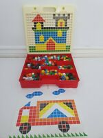 Vintage Mosaic Creative Picture Coloured Tile Game Toy Carry Case Dexterity