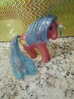 G1 My Little Pony Sparkle Pony Star Dancer Glitter Blue Mane Tinsel Vintage MLP