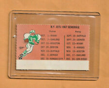 1967 NEW YORK JETS FOOTBALL DETACHABLE SEASON TICKET HOLDER POCKET SCHEDULE