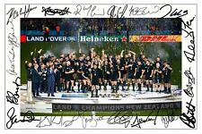 NEW ZEALAND ALL BLACKS 2015 RUGBY WORLD CUP WINNERS SIGNED A4 PP POSTER PHOTO 1