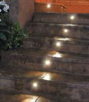 Lampo Luminaire Led encastré avec paupière IP66 45 ° 1W Argent Lumière Froide