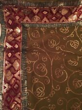 Indian Bollywood Saree Sari Embroidered With Sequins And Velvet Border.