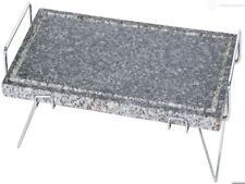 Pietra ollare bistecchiera 38x20 spessore 2 cm con telaio in acciaio cromato e g