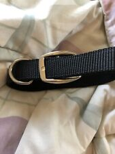 New listing Black Dog Collar 1� fits 26� neck double nylon