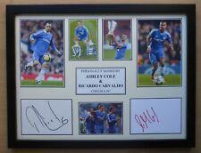 Ashley Cole & Ricardo Carvalho Dual Signed Chelsea Career Display (16725)