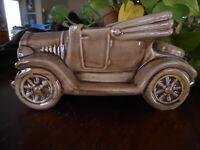 Beige VINTAGE MCCOY ? POTTERY BROWN JALOPY CAR PLANTER Collectable