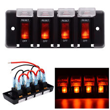 4 Gang Switch Panel Waterproof 12V Circuit Breaker With Fuse for Car RV Marine