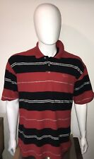 Karl Kani Gold Mens Vintage Short Sleeve Striped Polo Shirt Size XL