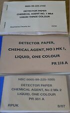 British Army / NATO Chemical Agent Detector Papers Choose Type