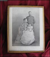 1896 ANTIQUE IMPERIAL RUSSIA ORIGINAL FRAMED PRINT – RUSSIAN ROYAL FAMILY