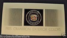 1985 Cadillac Cimarron Paint Chip Colors Brochure Excellent Original 85