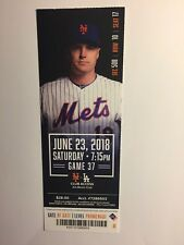 NEW YORK METS VS LOS ANGELES DODGERS JUNE 23, 2018 TICKET STUB