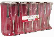 Lot de 100 jetable flutes champagne en argent tige fête verres à vin