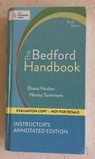 The Bedford Handbook by Diana Hacker 9th INSTRUCTOR's Edition 9th