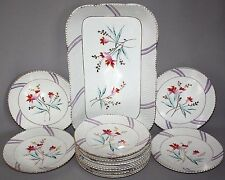 Vintage Antique 19th C. GERMAN REGISTRIRT ICE CREAM SET Tray 11 Dishes 1840-1875