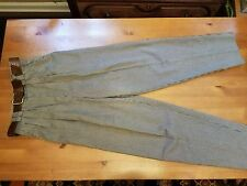 BROOKS FASHION TAN/GREEN TWEED PANTS WITH BELT 5