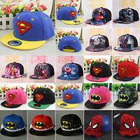 Superhero Boy Girl Kids Hip Hop Baseball Cap Sun School Adjustable Snapback Hats
