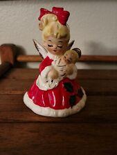 New ListingVintage Josef Original Christmas Girl Angel Holding Baby Jesus Ornament Bell